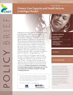 Primary care capacity and health reform is michigan ready for Policy brief example template