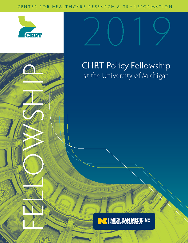 Download the 2019 CHRT Policy Fellowship brochure as a PDF